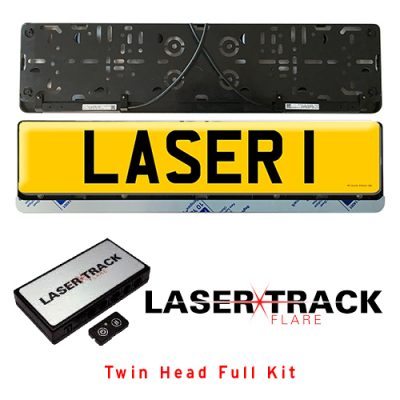 Lasertrack Flare twin Numberplate Kit
